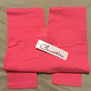 NWT Hot pink leggings from Clementine